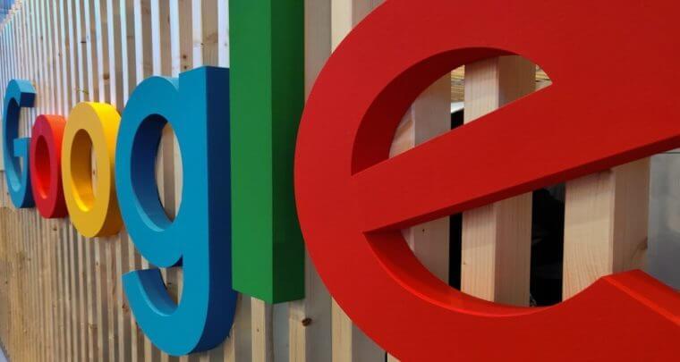 拡大したGoogleのロゴマーク