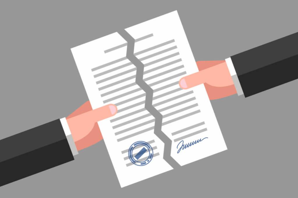 契約書を破り解約