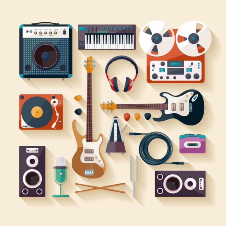 様々な楽器の寄せ集め